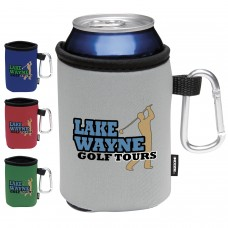 COLLAPSIBLE KOOZIE® CAN KOOLER WITH CARABINER