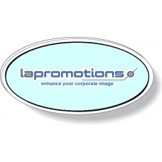 Oval White Plastic Magnetic Badge wit Glossy Varnish