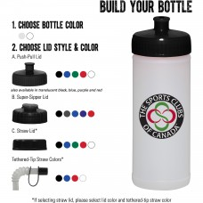 16-oz. Sports Bottle - Natural/White
