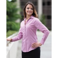 COAL HARBOUR® TEXTURED LADIES' WOVEN SHIRT. L6004